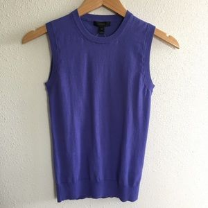 J Crew purple sleeveless knit sweater top XXS NWT